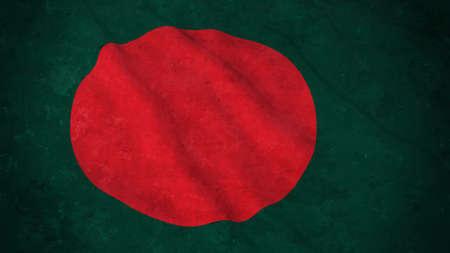 grime: Grunge Flag of Bangladesh - Dirty Bangladeshi Flag 3D Illustration Stock Photo