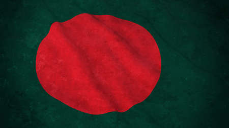 Grunge Flag of Bangladesh - Dirty Bangladeshi Flag 3D Illustration Stock Photo