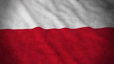flag: Grunge Flag of Poland - Dirty Polish Flag 3D Illustration Stock Photo