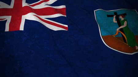 montserrat: Grunge Flag of Montserrat - Dirty Montserratian Flag 3D Illustration Stock Photo