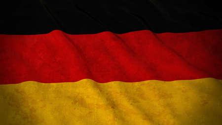 Grunge Flag of Germany - Dirty German Flag 3D Illustration