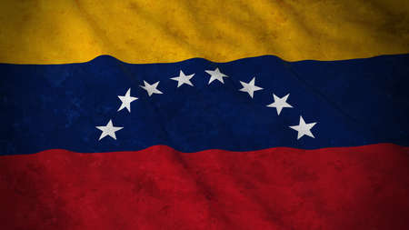 grime: Grunge Flag of Venezuela - Dirty Venezuelan Flag 3D Illustration
