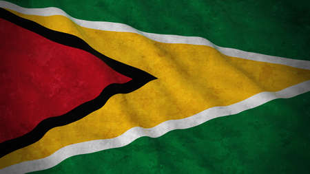 Grunge Flag of Guyana - Dirty Guyanese Flag 3D Illustration