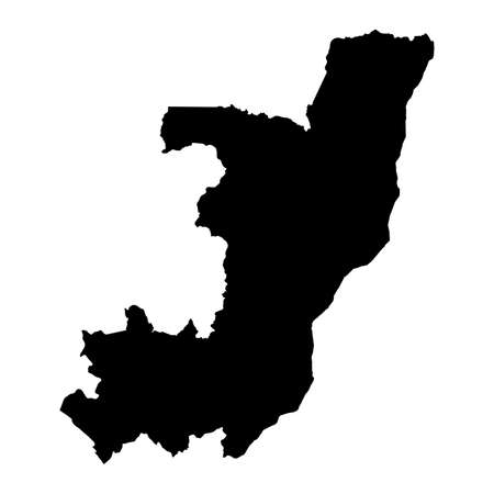 Congo Black Silhouette Map Outline Isolated on White 3D Illustration Imagens - 81368358