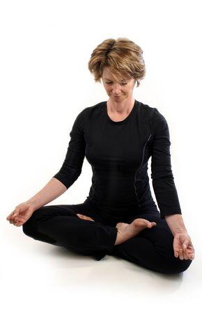 woman doing yoga Imagens