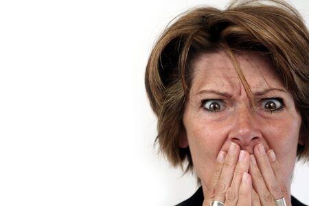woman scared Stock Photo - 242175