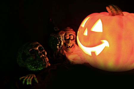 monster movie: halloween pumpkin