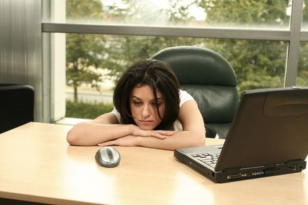 tired at work Stock Photo