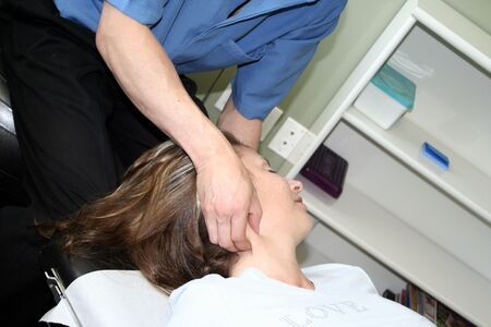 adjusted: woman being adjusted