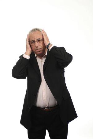 senior with migraine