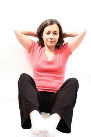 exercices: woman doing exercices