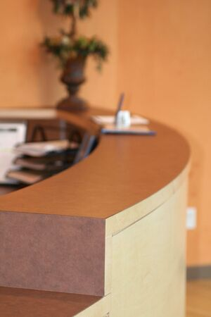 waiting area: reception desk