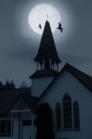 monster movie: church over moon