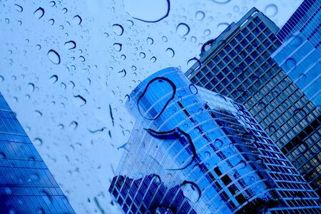 hight: buildings and raindrops Stock Photo