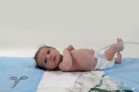 neonatal: newborn profile Stock Photo