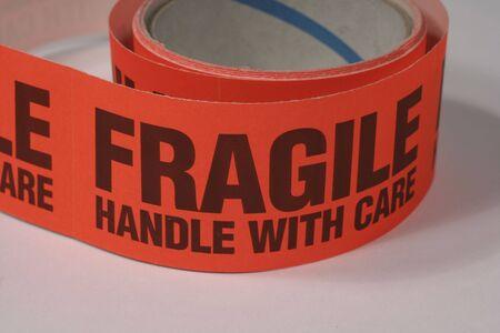 breakable: fragile sticker Stock Photo