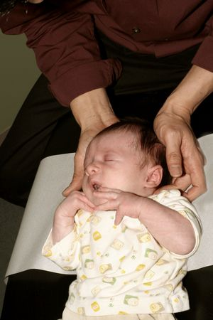 newborn chiropractic adjustment Stock Photo - 286023