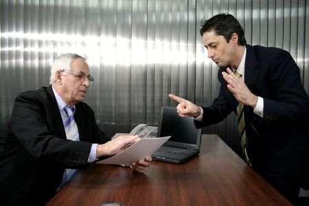 businesspeople argument Stock Photo
