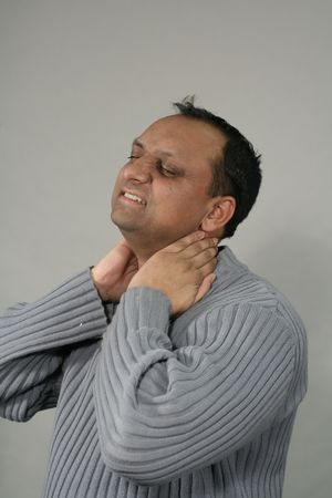 massaggio collo: stanco e massaggio del collo