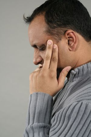 angor: Maux de t�te et migraines  Banque d'images