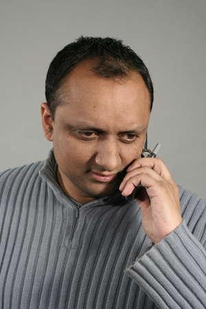 man on mobile photo