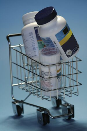 trolly: drugs in shoppingcart Stock Photo
