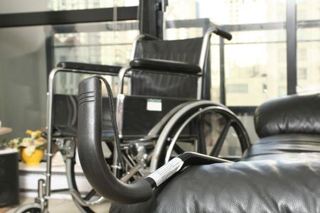 aide: wheelchair and cane