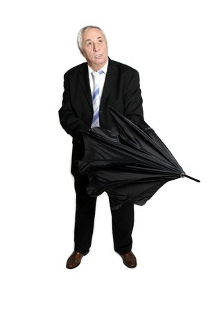 man opening umbrella Stock Photo - 309935
