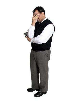 boekhouder met hoofdpijn