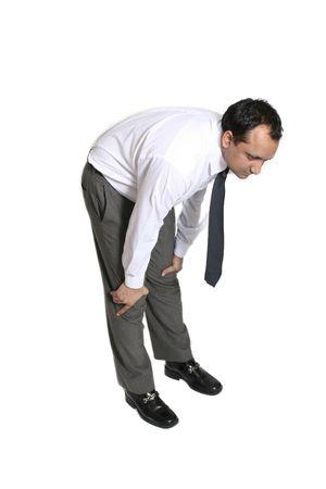 angina: hombre de negocios fuera de la respiraci�n