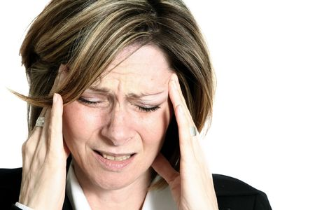 businesswoman with headache Stock Photo - 329472