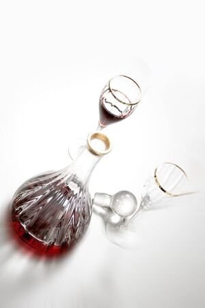 wine set over white