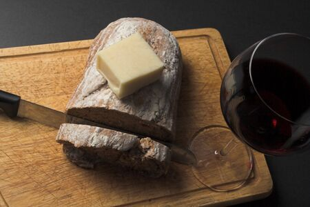 bread and wine: bread wine and cheese