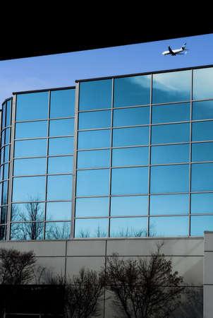 hight tech: blue office building