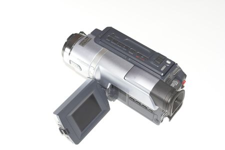reverse: camcorder over white