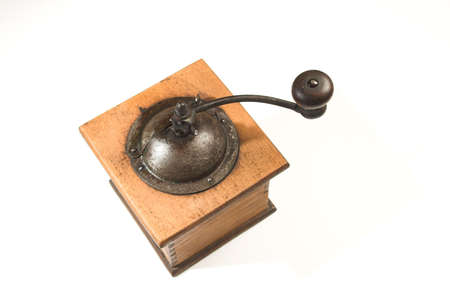 coffee grinder over white Banco de Imagens