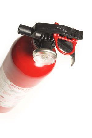extinguisher over white photo