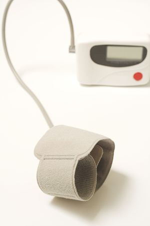 blood pressure appareil close up over white Stock Photo - 374498
