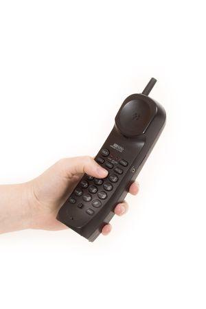 telephone over white