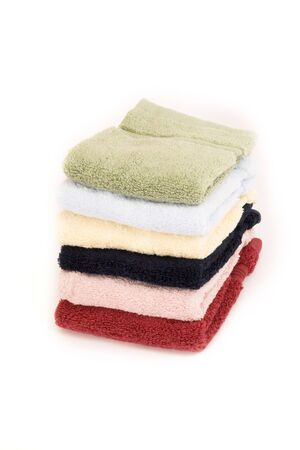 laundered: stacked towels over white