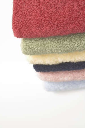 stacked towels over white Stock Photo - 388776