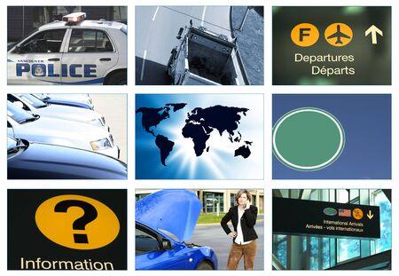 collage transportation theme photo