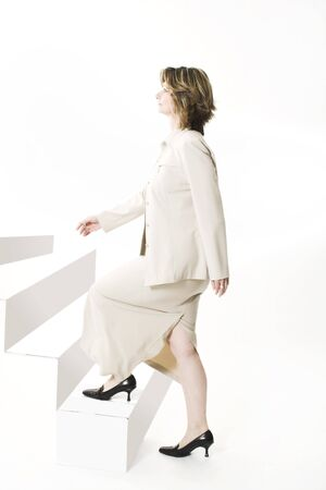 woman going up the stairs Stock Photo - 403673
