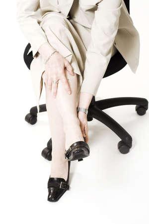 business woman having foot pain