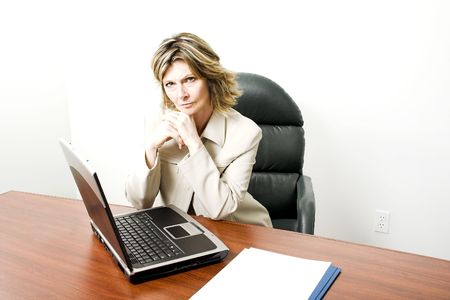 business woman giving a serious look Stock Photo - 407569