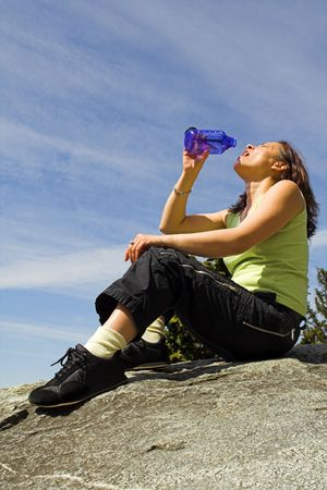 girl drinking water Stock Photo - 407559