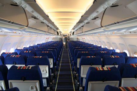 비행기 내부 스톡 콘텐츠 - 504060