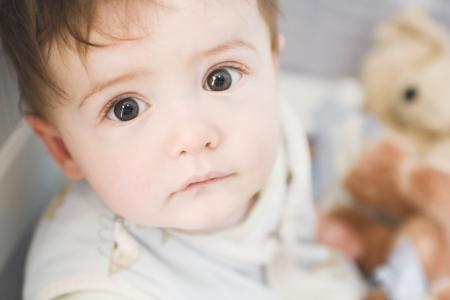 infant waking up Stock Photo