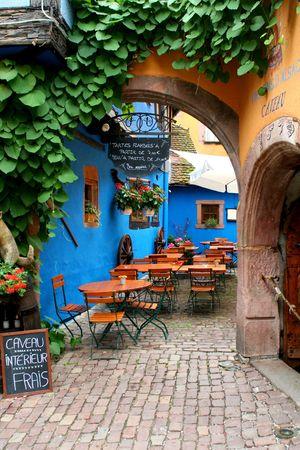 quiet cafe restaurant near strasbourg in france