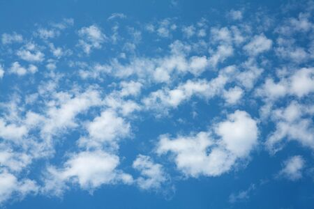 cirrus: wide angle view of cloudy deep blue sky